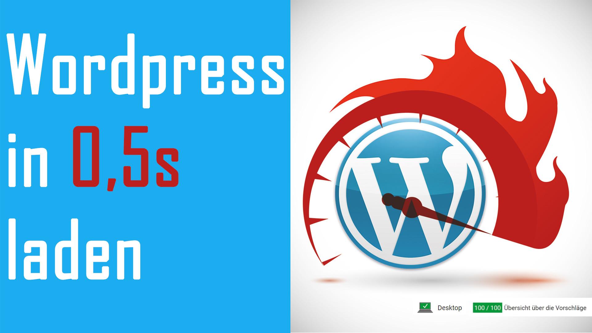 Wordpress Pagespeed verbessern