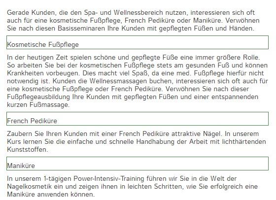 schlechte Formatierung der Überschriften (grün markiert zur Veranschaulichung)