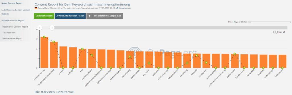 WDF*IDF Analyse des Keywords Suchmaschinenoptimierung